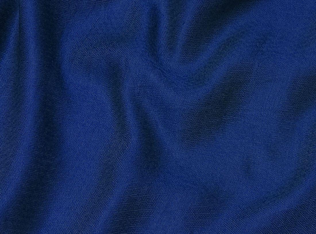 Шёлк + шерсть, синий шарф-палантин (Москва)