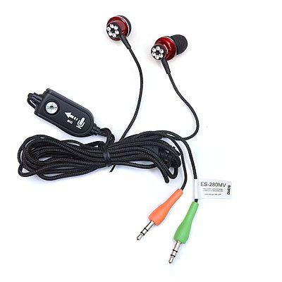 Наушники вакуумные - гарнитура с регулятором громкости ES-280MV RED Dialog