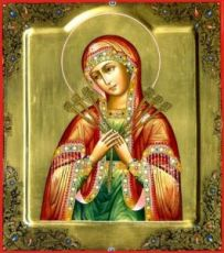 Умягчение злых сердец икона Божией Матери (рукописная)