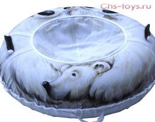 Тюбинг Дизайн Белый медведь 110см