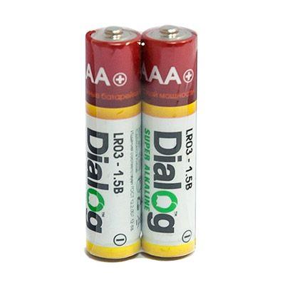 Батарейка щелочная ААА Dialog, 2 шт. в термоплёнке LR03-2S