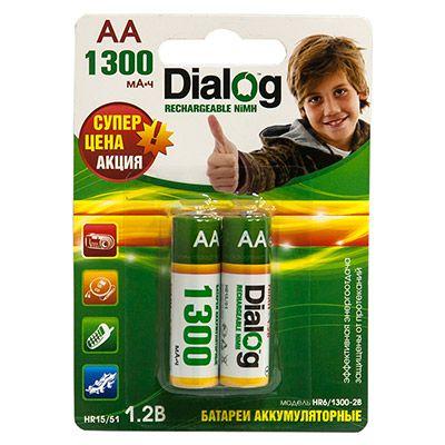 Аккумулятор Dialog NiMH AA 1300 мА*ч, 2шт. в блистере HR6/1300-2B