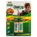 Аккумулятор Dialog NiMH AA 2000 мА*ч, 2шт. в блистере HR6/2000-2B