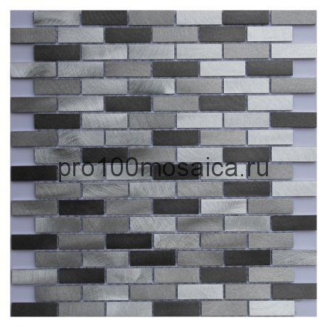 Metallic Brick I. Мозаика серия METAL, размер, мм: 303*298*6 (ORRO Mosaic)