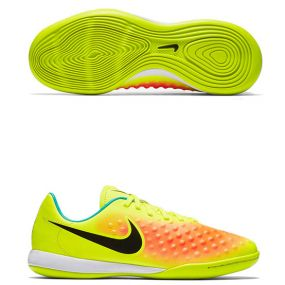 Детские футзалки Nike Magista Opus II IC салатовые