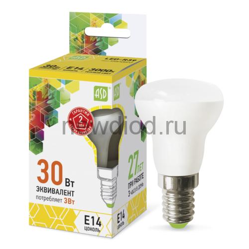 Лампа светодиодная LED-R39-standard 3Вт 160-260В Е14 3000К 270Лм ASD