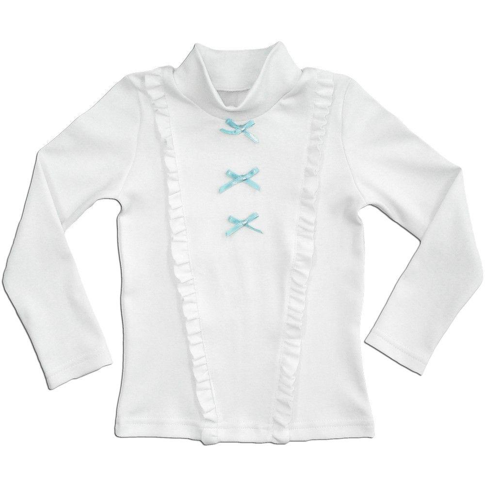 Блуза для девочки Голубой бантик