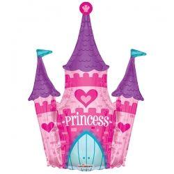 Шар Симпатичный замок фольгированный шар с гелием