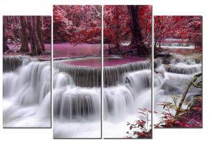 Модульная картина Розовое озеро