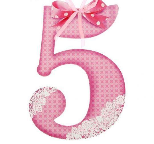 Цифра 5 для фотосессии розовая