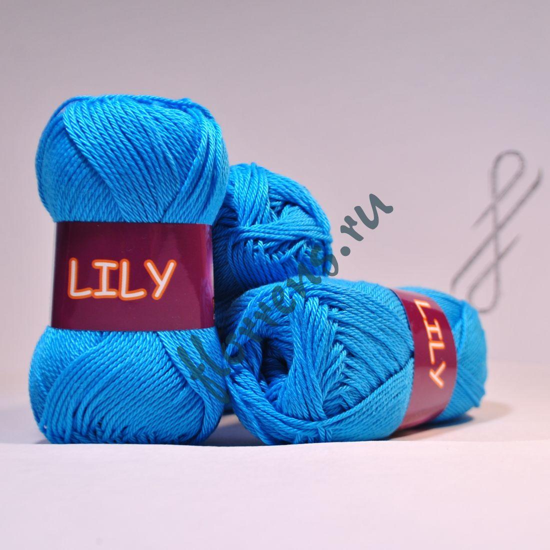 Пряжа Lily 1618 голубая бирюза
