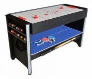 """Игровой стол (аэрохоккей+бильярд+теннис) """"Global"""" 4,5 фута"""