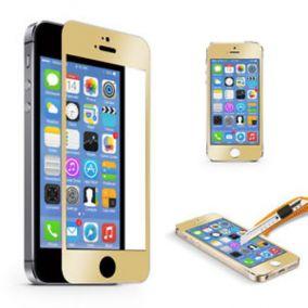 Закаленное противоударное цветное стекло для iPhone 5 (2 стороны)