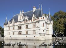 Почтовая открытка Замки Европы - Азе-ле-Ридо