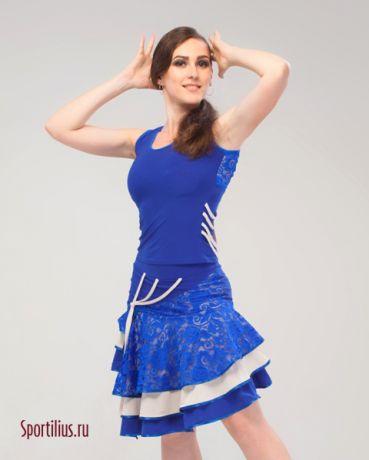 """костюм для латины синий """"Майами"""""""