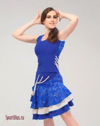 """Костюм для спортивных танцев латина """"Майами"""", синий"""