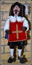 Чешская кукла-марионетка Мушкетер Атос -  Mušketýr (Чехия, Praha, Hand Made, авторы  Ивета и Павел Новотные)