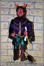 Чешская кукла-марионетка Люцифер  - Lucifer (Чехия, Praha, Hand Made, авторы  Ивета и Павел Новотные)