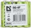 Батарейка солевая R6-4F AA, в пленке 4 шт