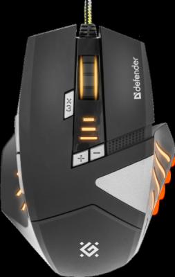 Акция!!! Проводная игровая мышь Warhead GM-1760 оптика,8 кнопок,1000-2500 dpi
