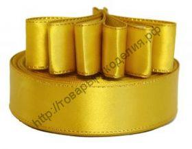 лента атласная с люриксом 25мм жёлтая