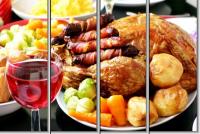 Модульная картина Сытный ужин