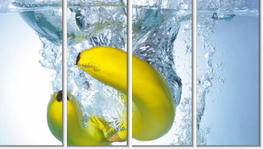 Модульная картина Бананы в воде