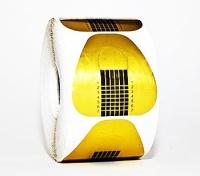 Формы для моделирования ногтей бумажные 500шт (золото,подкова)