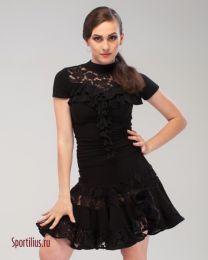 """Черный костюм для латины """"Фиеста"""""""