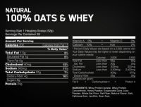 Optimum Nutrition 100% Natural Oats and Whey 3lb состав