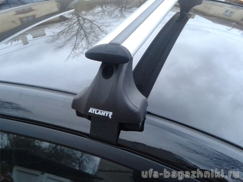 Багажник на крышу Hyundai Solaris 2011-17, sedan, Атлант, крыловидные дуги, опора Е