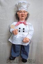 Чешская кукла-марионетка Повар  - Kuchař (Чехия, Praha, Hand Made, авторы  Ивета и Павел Новотные)