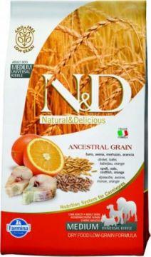 N&D Low Grain GODFISH&ORANGE Adult maxi ( Треска+апельсин  для взрослых собак крупных пород )
