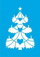 Новогодняя ёлка для украшения витрин и окон.