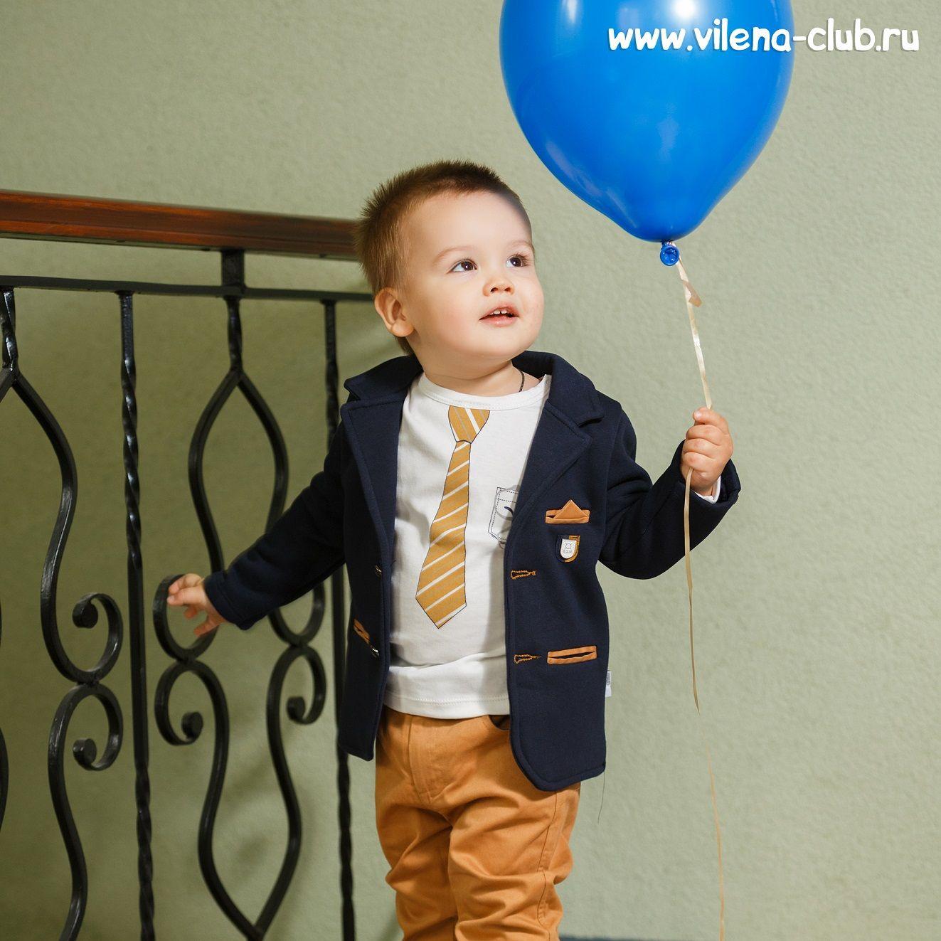 Костюм для мальчика (пиджак+водолазка+брюки+ремешок)