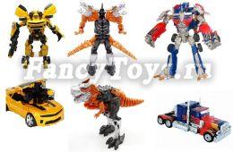 Большой Набор из 3-х трансформеров (23 см.) - Робот-дракон, Бамблби, Оптимус Прайм