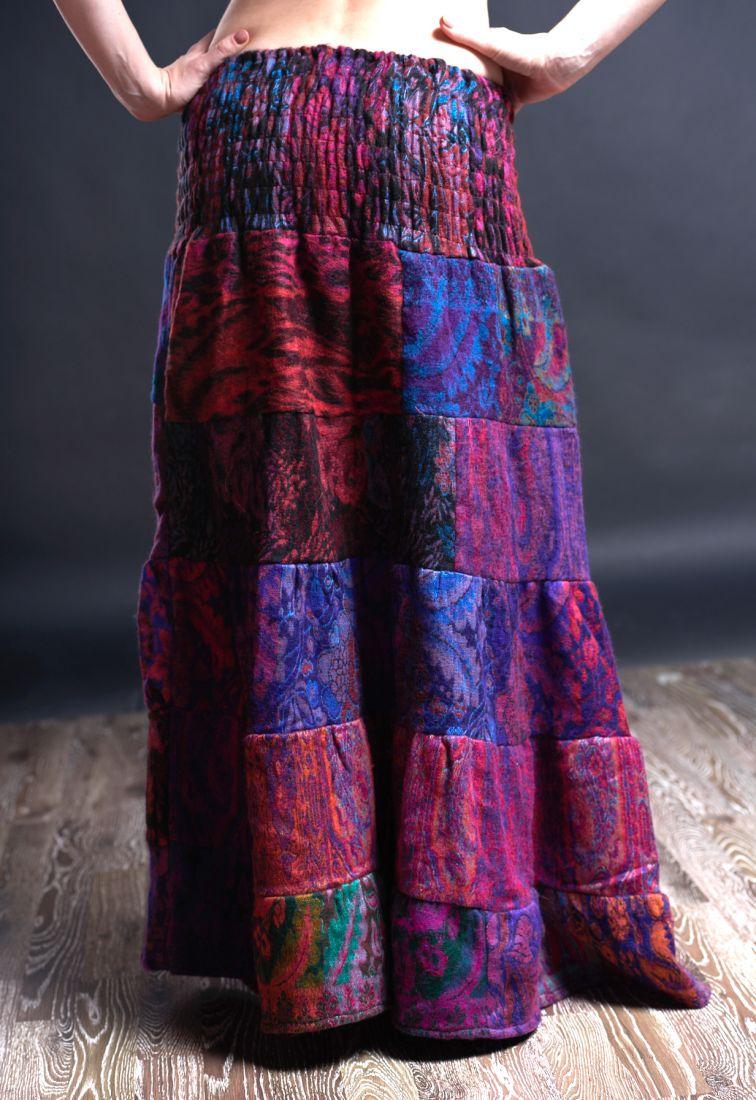 НЕТ В НАЛИЧИИ Длинная теплая юбка, разные цвета (Москва)