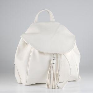 Рюкзак женский 1512710; экокожа; белый