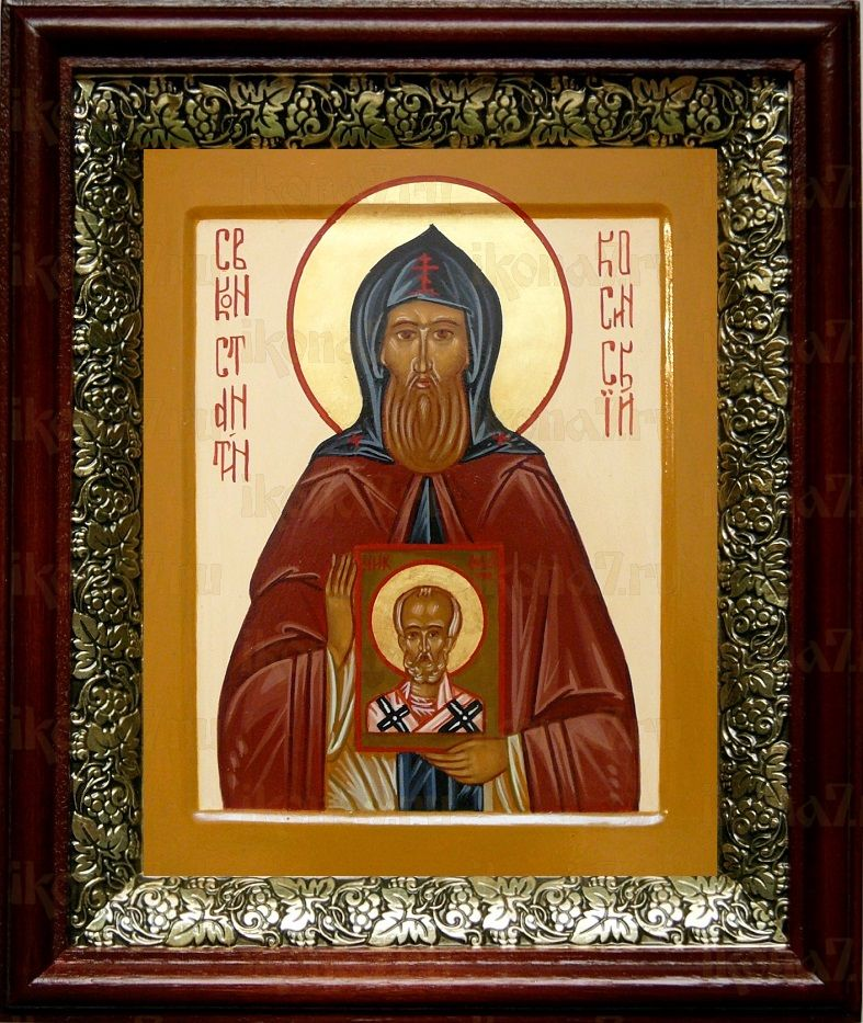 Константин Косинский (19х22), темный киот