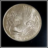 Новая Зеландия 1 доллар 1980 г. ( Трубастый голубь), шайба