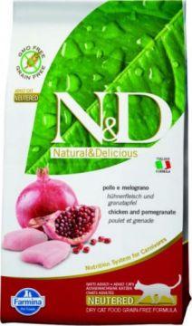 N&D Cat Chicken & Pomegranate Neutered Adult.(Фармина Курица+гранат беззерновой для взрослых стерилизованных кошек)
