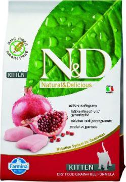 N&D Cat Chicken & Pomegranate Kitten.( Курица+гранат беззерновой для котят)