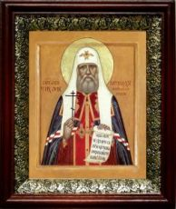 Тихон Московский (19х22), темный киот