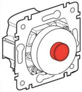Выключатель  круглый Galea Life  с подсветкой (арт.775844)