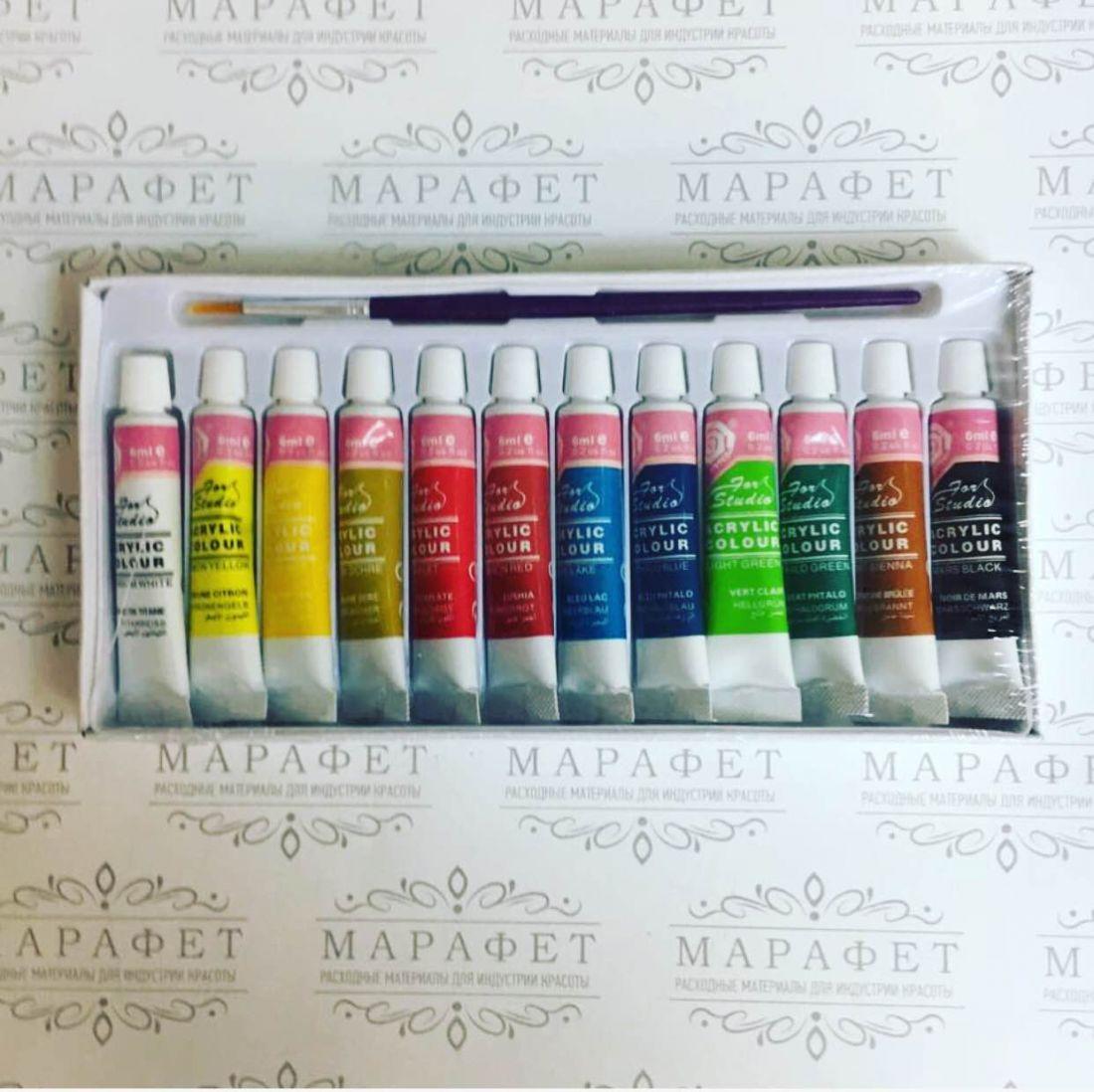 Набор акриловых красок ARTISTS 12мл (12 цветов)