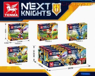 4 конструктора Tenma Next Knights TM8200 (аналог Lego Nexo Knights)