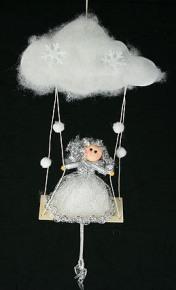 Новогодняя фигурка Ангел на облаке