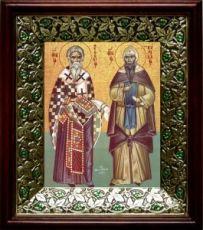Кирилл и Мефодий (21х24), киот со стразами