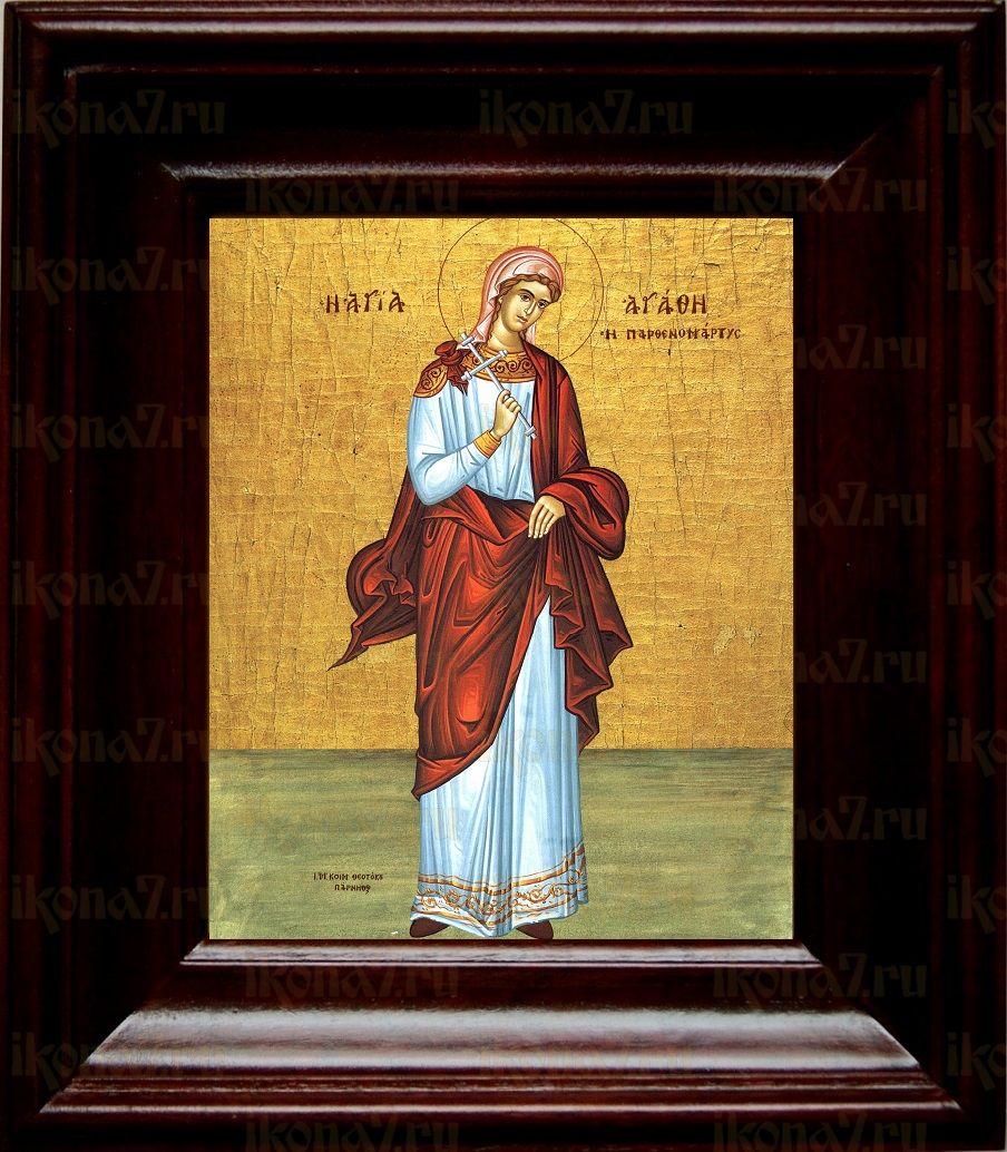 Агафия Панормская (21х24), простой киот