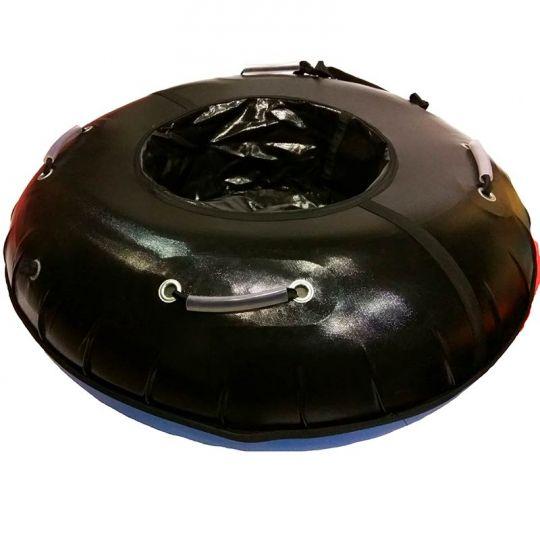 Тюбинг 120см Профи с пластиковым дном, черный